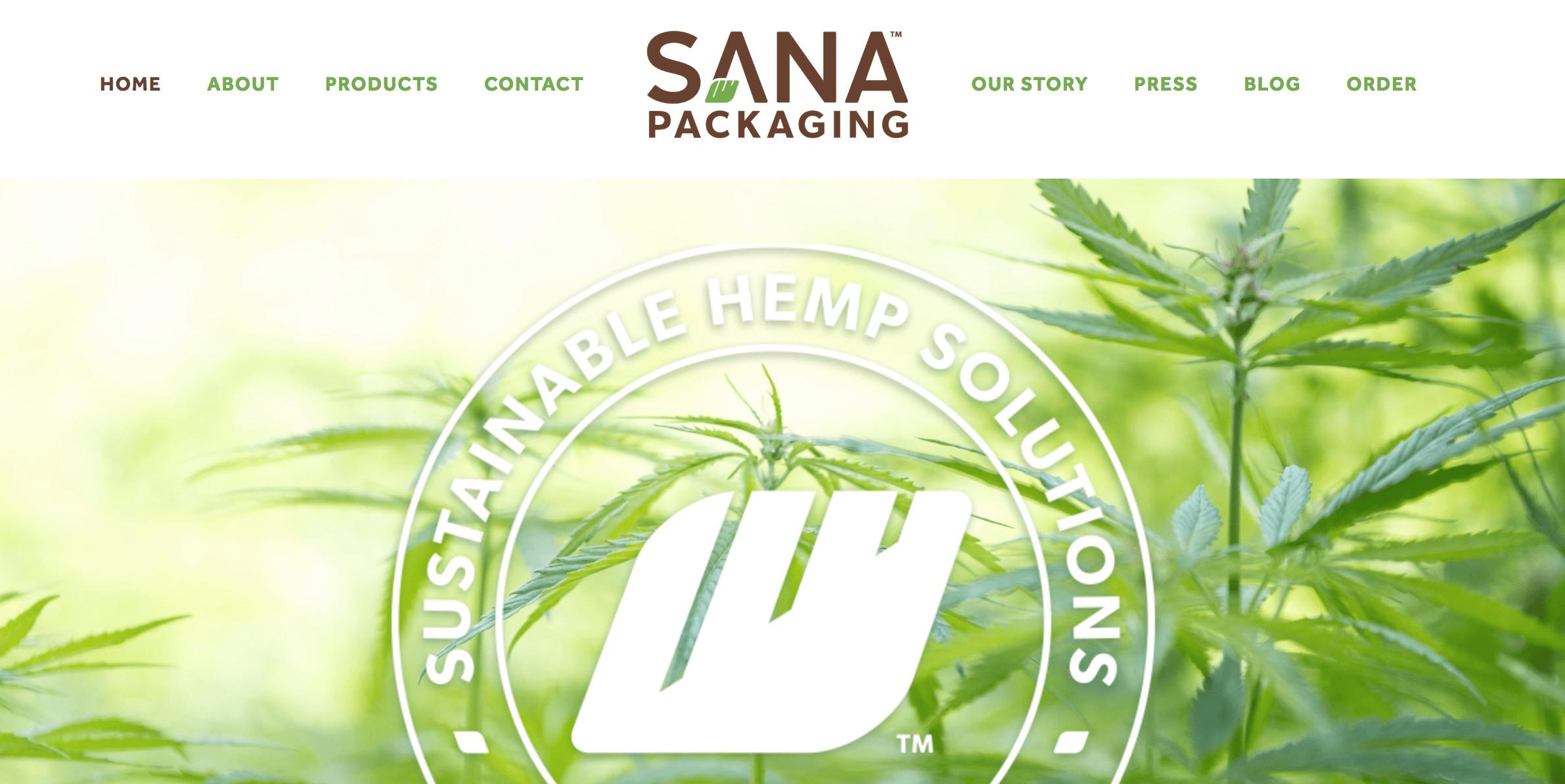 Sana Packaging website