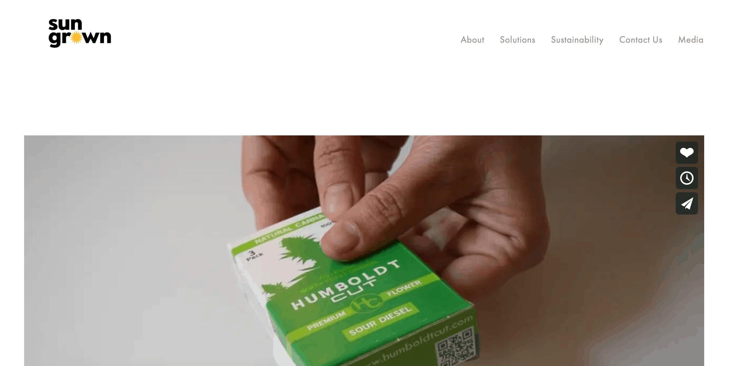 Sun Grown website