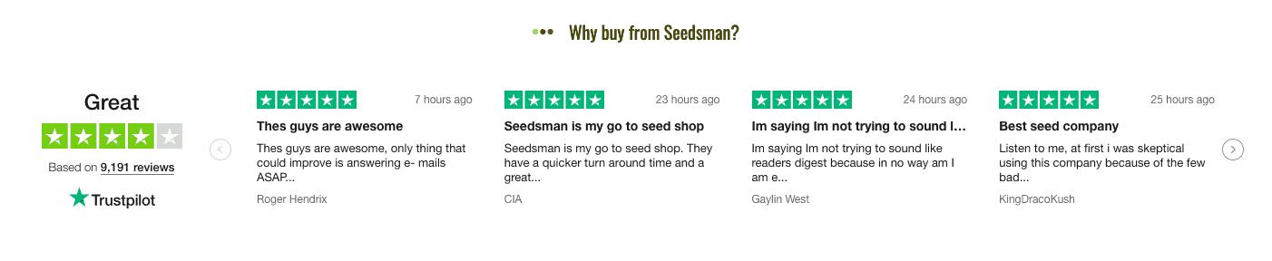 seedsman online reviews
