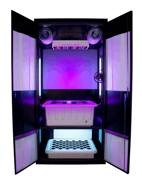Supercloset LED grow cabinet
