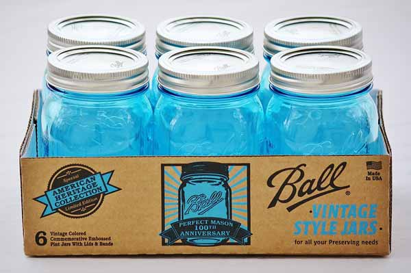Ball glass jar stash