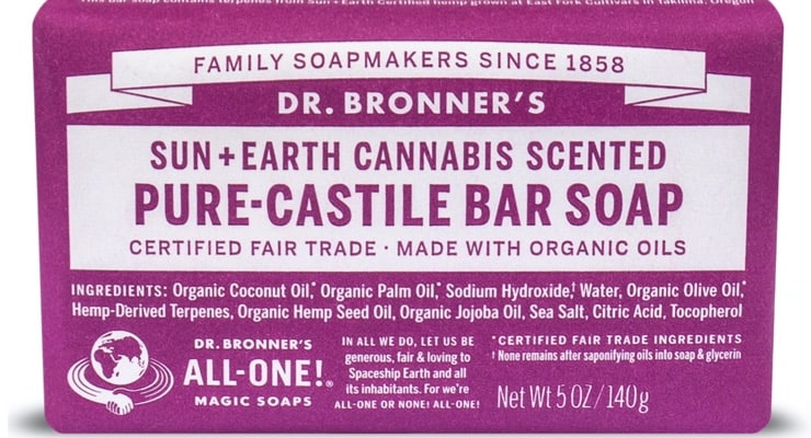 Dr. Bronner cannabis bar soap