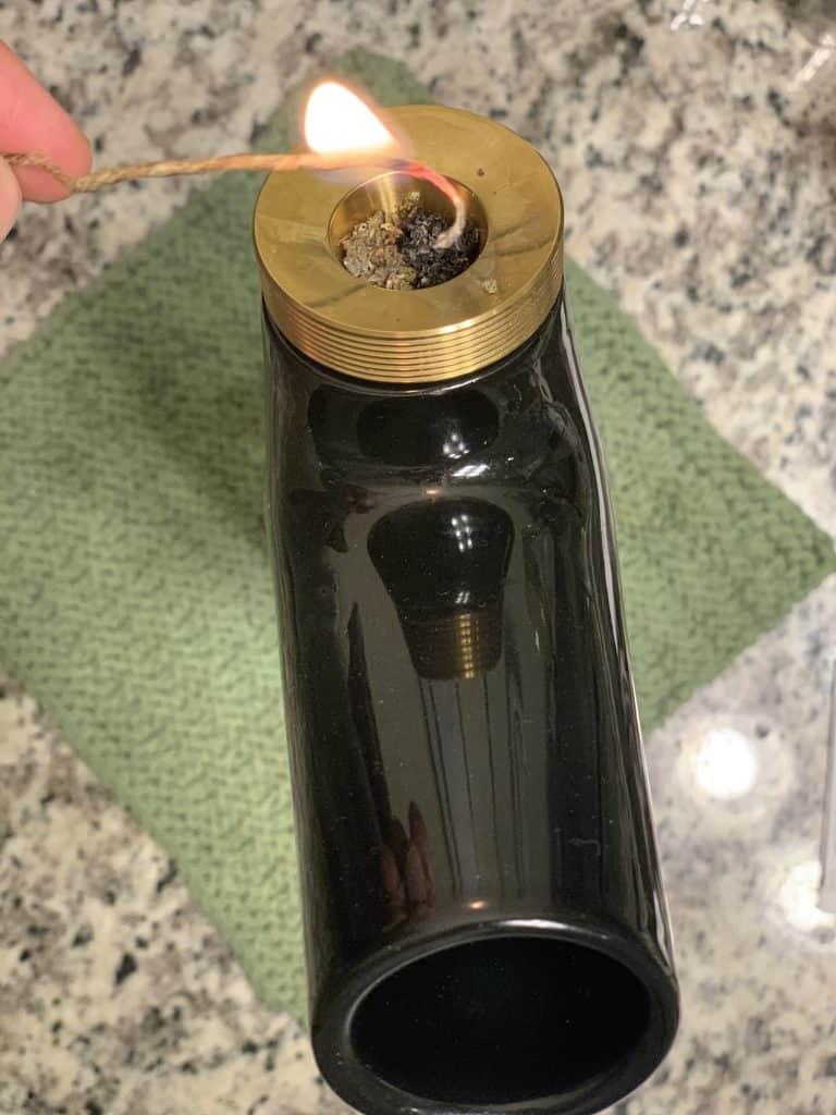 how to use a hemp wick to light a bowl